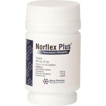 NORFLEX PLUS (Acetaminophen / Orphenadrine) 50 TAB