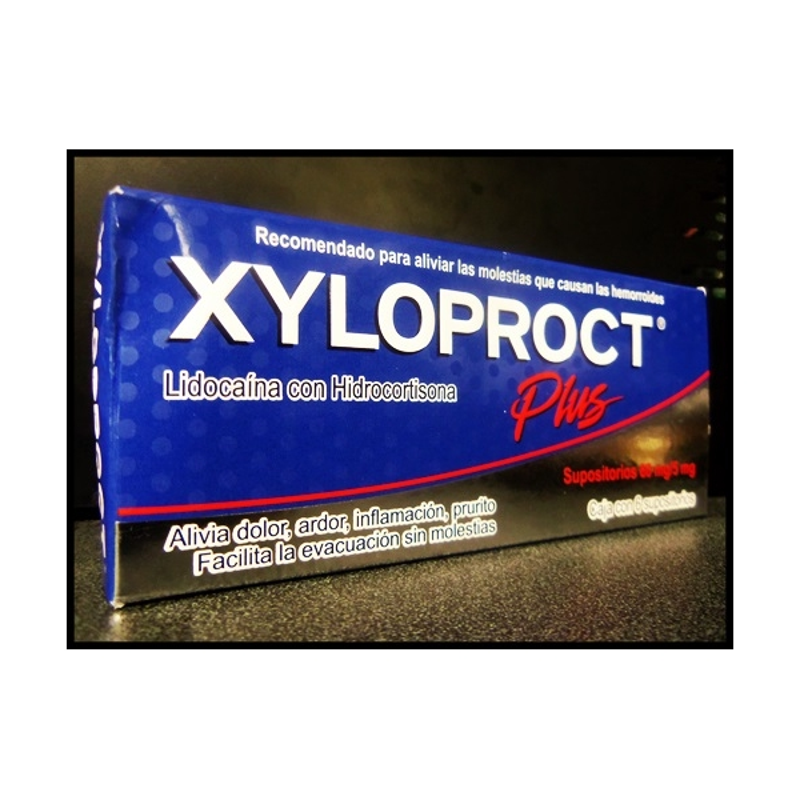 XILOPROCT PLUS 60MG/5MG 6 SUPOSITOROS