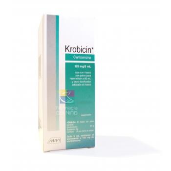 Krobicin Claritronicina 125mg 5ml Susp60ml Mexipharmacy Farmacia Online En Mexico De Medicamentos De Patente Y Genericos Ungida De Dios