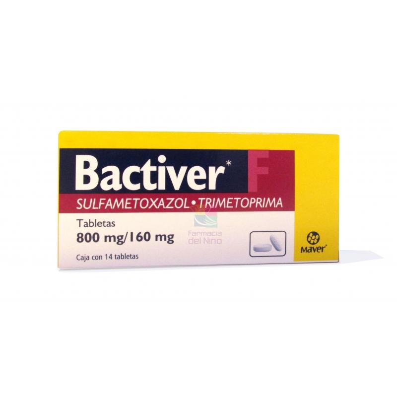 BACTIVER F (SULFAMETOXAZOL Y TRIMETOPRIMA) 800MG/160MG 14TAB