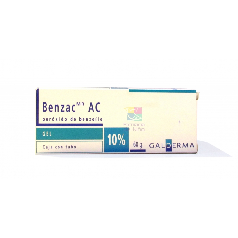 BENZAC AC (PEROXIDE BENZOYL) 10% 60G GEL