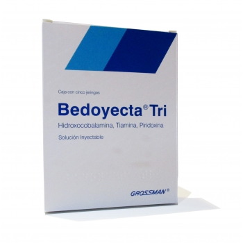 BEDOYECTA TRI (B COMPLEX) 5INJECTIONS 2ML *!NON SHIPPABLE OUTSIDE OF MEXICO!!!!
