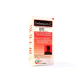DEBEQUIN C (DEXTROMETORFANO/GUAFENESINA) JBE ADTO 120ML