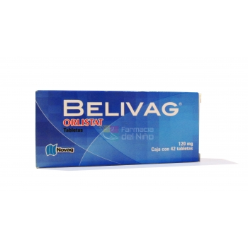 BELIVAG (ORLISTAT) 42 TAB 120 MG