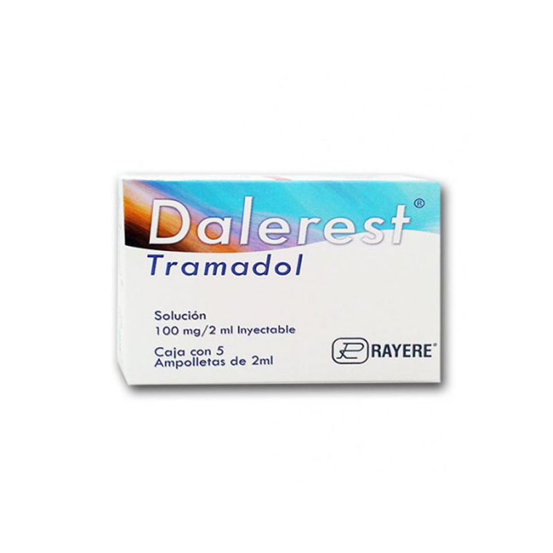 DALEREST ( tramadol ) 100 mg/ 2 ml c/5 ampolletas