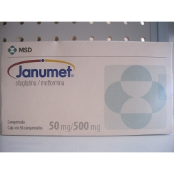 JANUMET (SITAGLIPTINA / METFORMINA) 50MG/500MG 56COMP