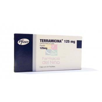 TERRAMICINA (OXITETRACICLINA) 125MG 24TROCISCOS
