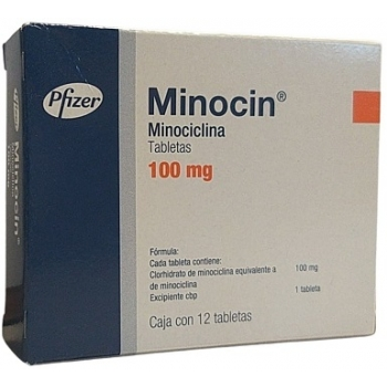 Minocin Minocycline 100mg 12tab Mexipharmacy