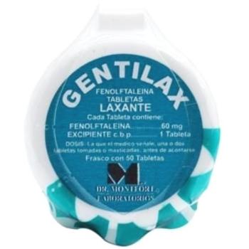 GENTILAX (FENOLFTALEINA) 50TAB