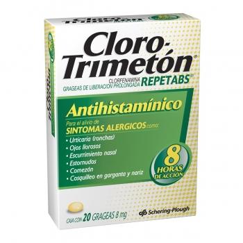 CLORO-TRIMETON REPETABS (CLORFENAMINA) 8MG 20TAB