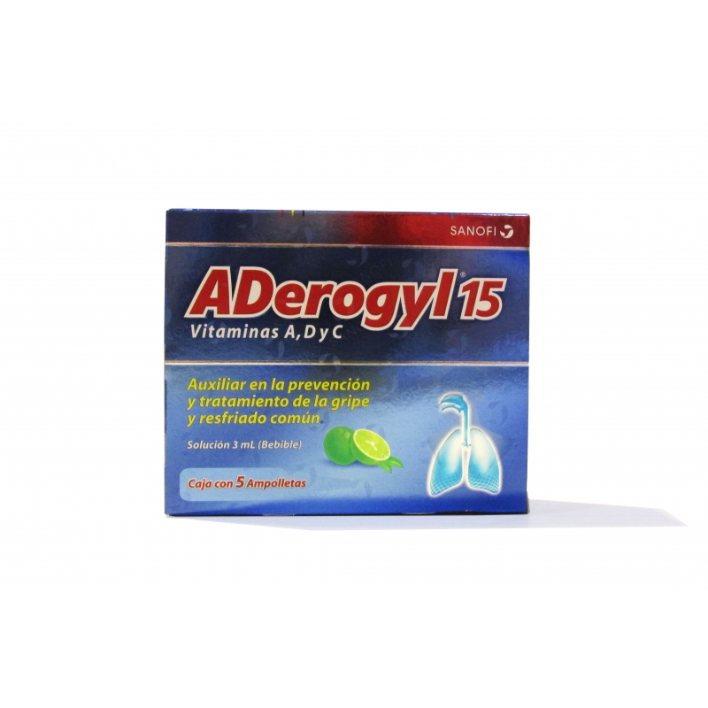 ADEROGYL 15 C/5 AMP  3ML