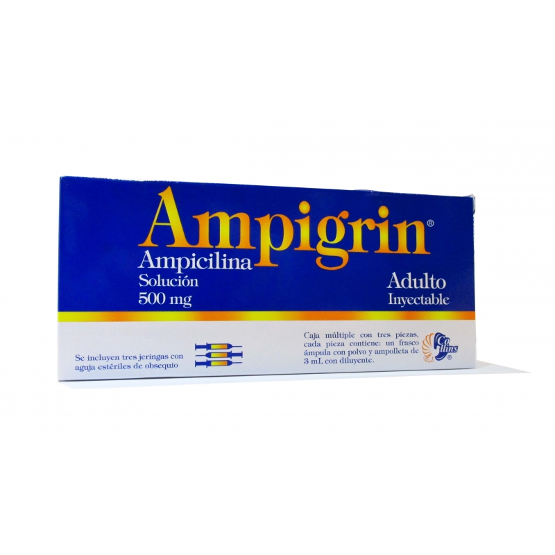 AMPIGRIN (AMPICILINA) 500MG SOL. INYECTABLE