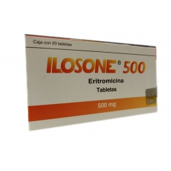 Ilosone Erythromycin 500mg 20pills Mexipharmacy