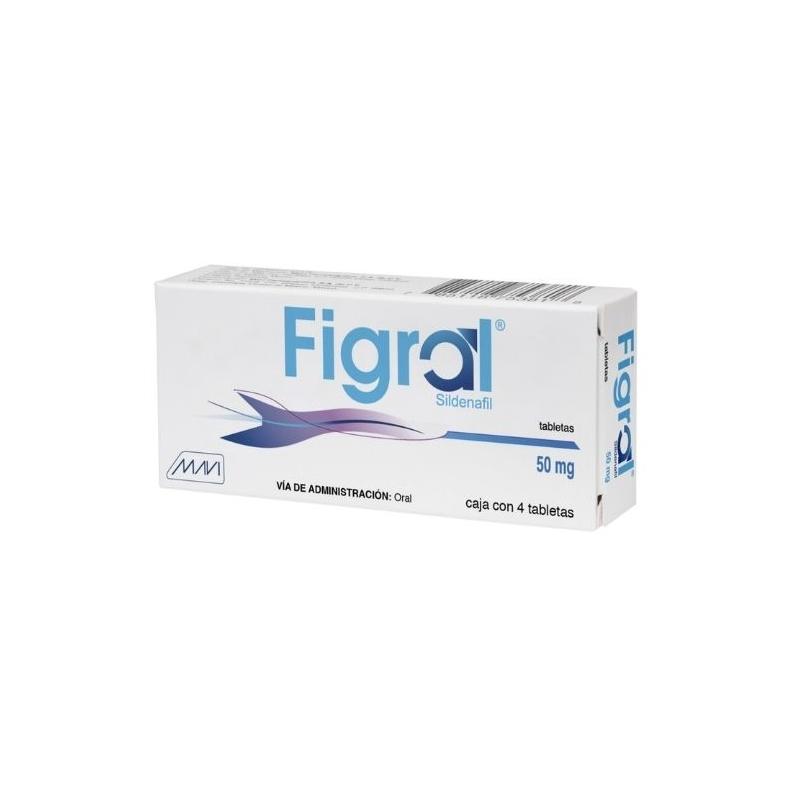 FIGRAL (SILDENAFIL) 50MG 4TABLETAS