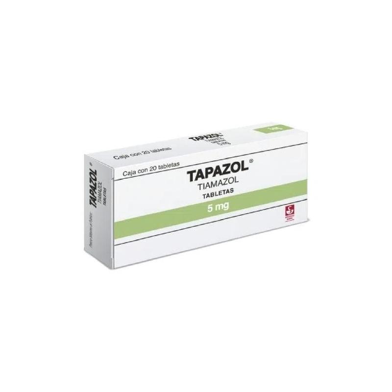 TAPAZOL (TIAMAZOL) 5MG 20TABLETAS