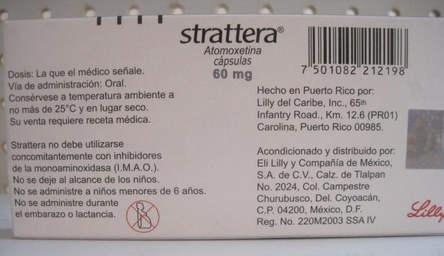 STRATTERA (ATOMOXETINA) 60MG 14TAB