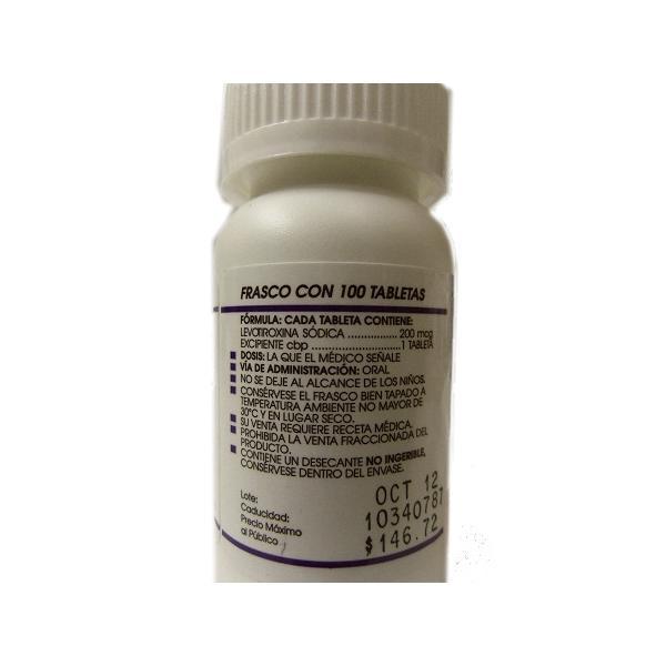 SINTROCID (LEVOTIROXINA) 200MCG 100TAB