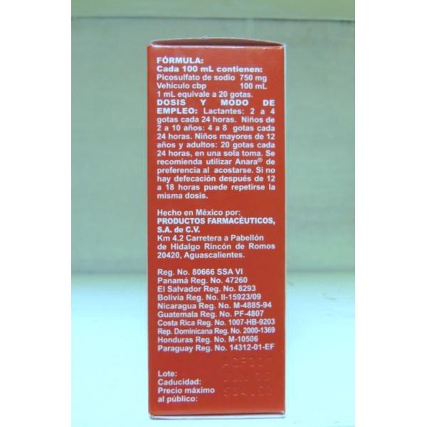 ANARA (Picosulfato de sodio)GOTAS SOL 20ML