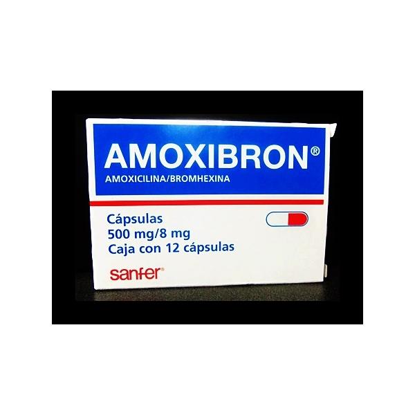 AMOXIBRON (AMOXICILLIN / BROMHEXINE) 12 CAPS