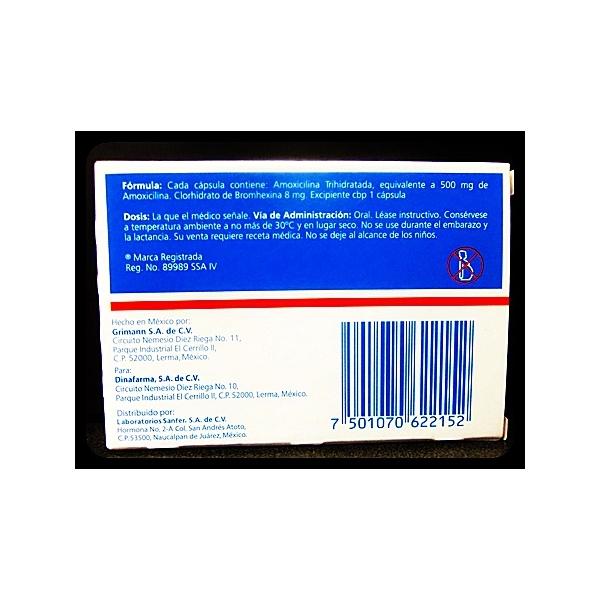 AMOXIBRON (AMOXICILINA / BROMHEXINA) 12 CAPS