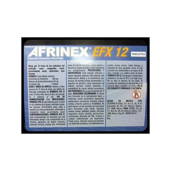 AFRINEX EFX-12 (DEXBROMFENIRAMINA/FENILEFRINA) 10TAB