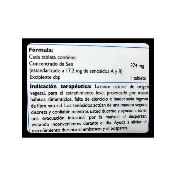 SENOKOT-F (Senosidos A-B )17.2MG 30TAB