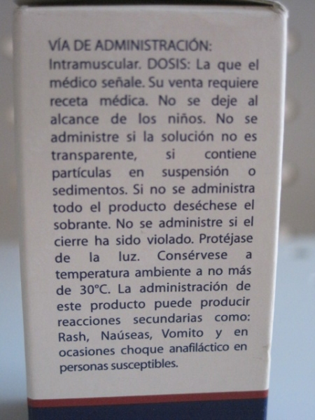 COMPLEJO B  SOLUCION INYECTABLE 10ML