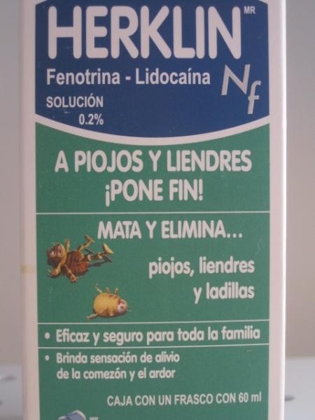 HERKLIN NF (FENOTRINA-LIDOCAINA) SOL 0.2% 60ML